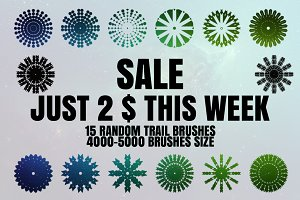 15 Random trail Brushes