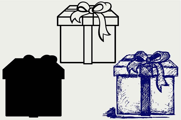 Gift Box SVG DXF