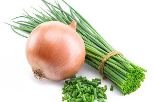 Green onions and bulb onion