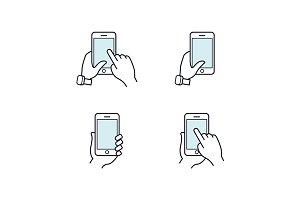 Hands holding smartphone.