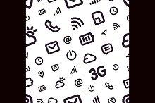 Mobile Interface Icon Pattern