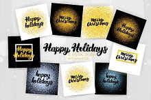Merry Christmas Lettering Posters