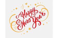 Happy New Year text for Your design