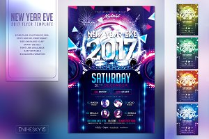 New Year Eve 2017 Flyer Template
