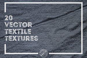 20 Vector Textile Textures