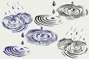 Rain drops SVG