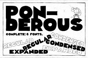 Ponderous - Complete - 6 fonts