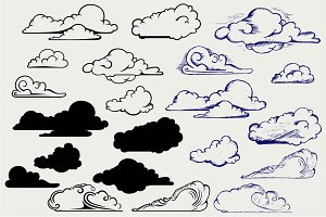 Clouds collection SVG