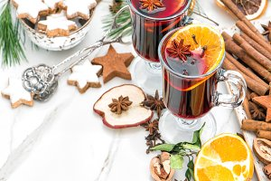 Mulled wine Christmas food drinks