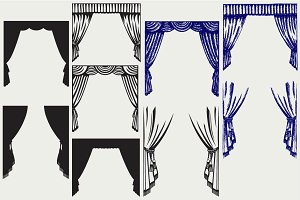 Theater curtain SVG