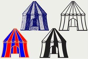 Circus tent SVG
