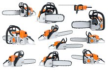 Chainsaw gasoline orange set