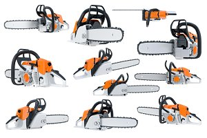 Chainsaw gasoline orange set
