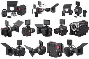 Camera video professional set