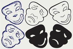 Theater masks SVG