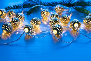 Christmas garland lights