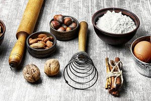 Ingredients for cooking dough