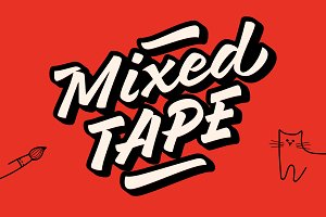 Mixed Tape Fonts - 50% off