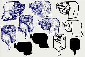 Toilet paper SVG