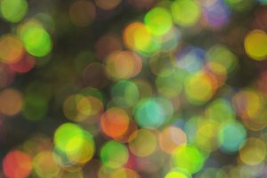 Gold and Green Bokeh