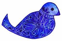 Blue violet pattern bird vector