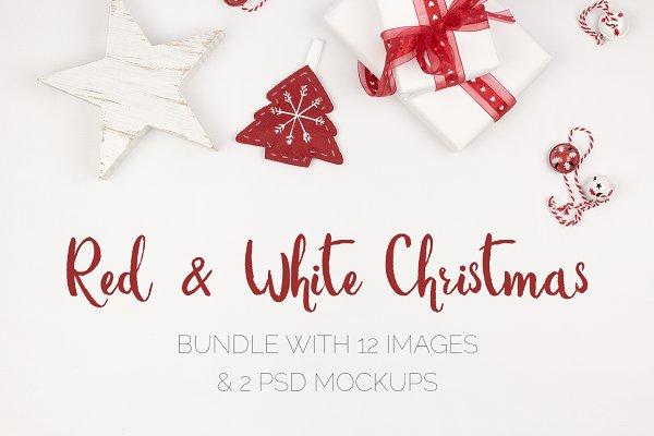 Red & White Christmas Pics & Mockup…