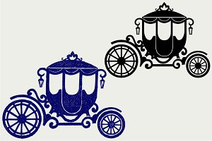 Vintage carriage SVG