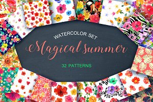 Magical summer in watercolor