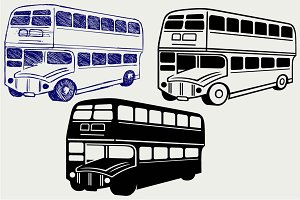 British double-decker bus SVG