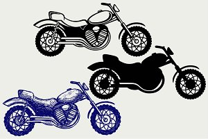 Classic motorcycle SVG