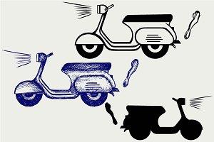 Vintage scooter SVG