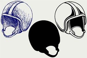 Motorcycle helmet SVG