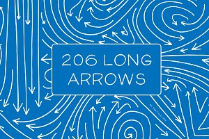 206 Hand Drawn Long Vector Arrows