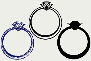 Wedding rings icon SVG