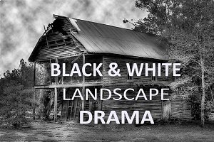 10 Black & White Landscape Drama