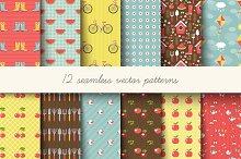 Seamless garden pattern