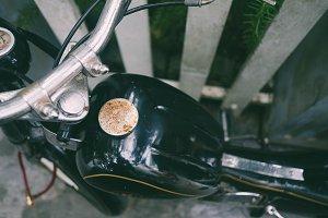 Vintage motorbike detail