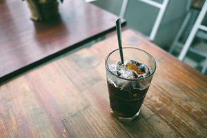 Ice black coffee
