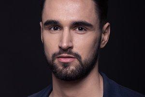 man fashion model headshot head face