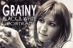 28 Grainy B & W Portrait Presets