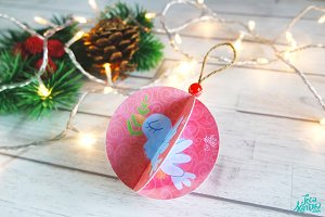 Animated Dove Christmas Ornament