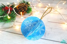 Animated Snowflakes Ornament