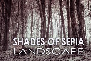 10 Shades of Sepia Landscape Presets
