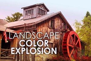 9 Landscape Color Explosion Presets