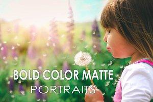 19 Bold Color Matte Portrait Presets