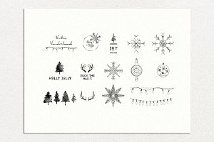 Vintage Christmas Card Badges Pack