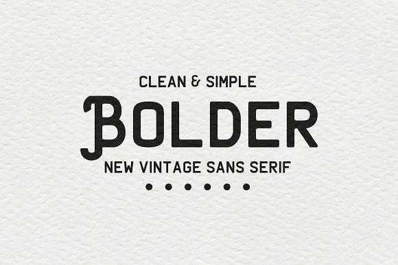 Bolder Clean Vintage Sans-serif