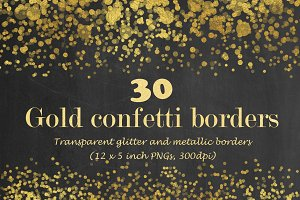 Gold confetti borders