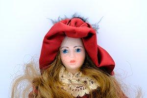 Porcelain doll isolate