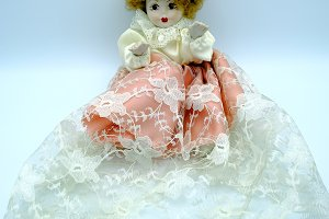 Porcelain doll isolate